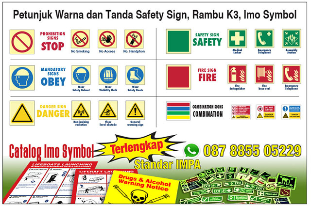 Petunjuk Warna Dan Tanda Safety Sign Rambu K3 Imo Symbol Rambu K3 Safety Sign Dan Imo Symbols